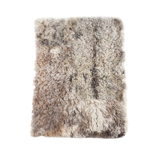 "Kundalini Genuine Brownish Gray Sheepskin Natural Yoga Mat - 2'6""x3'5"""