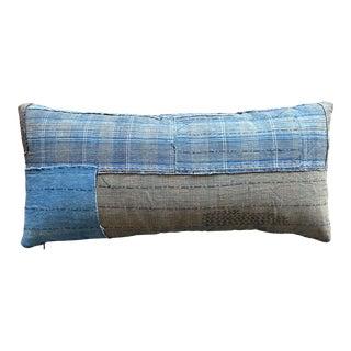 Boro Cotton Patchwork Pillow For Sale