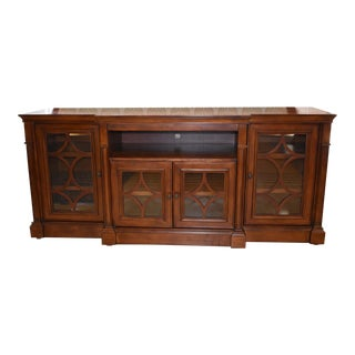 Transitional Style Oversized Cherry Four Door Tv /Entertainment Cabinet For Sale
