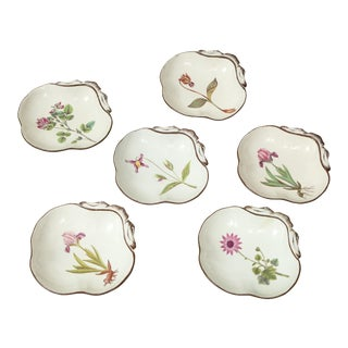 Set of Six English Pearlware Shell Dishes For Sale