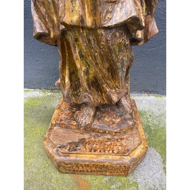 18th Century Italian Giltwood Figure For Sale - Image 10 of 13