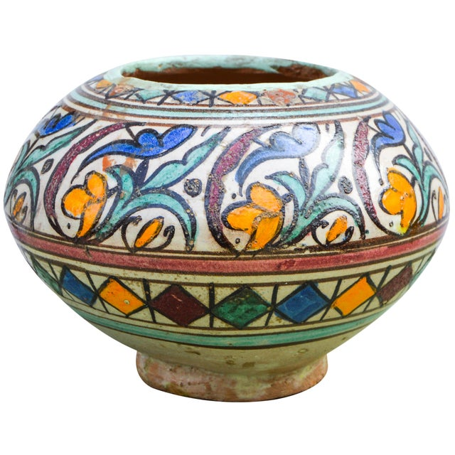 Moroccan Ceramic Vase For Sale - Image 9 of 9