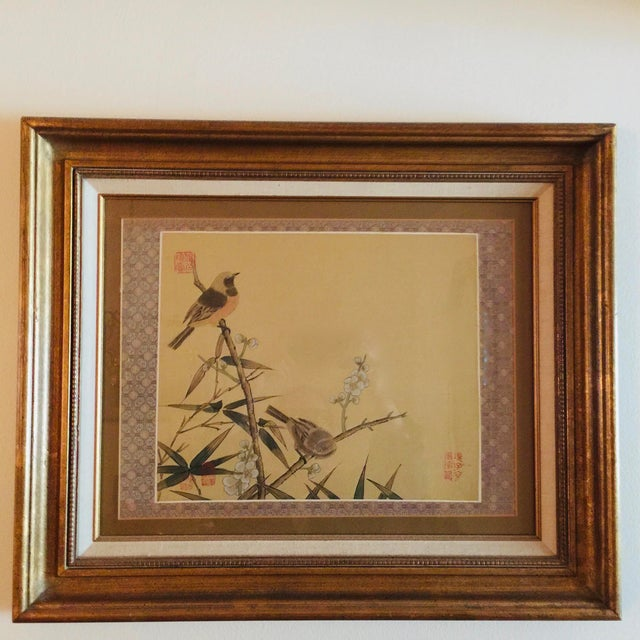 Asian Antique Chinoiserie Framed Prints - a Pair For Sale - Image 3 of 5