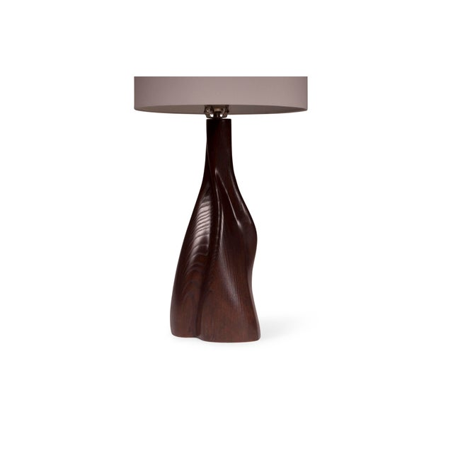 Wood Nectar Table Lamp - Dark Brown For Sale - Image 7 of 8