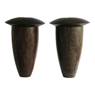 Belgian Handmade Vases - a Pair - One of Twelve Pairs Made For Sale