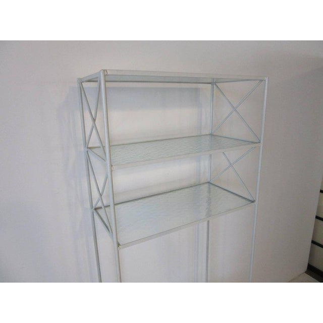Mid-Century Modern Russell Woodard Iron and Glass Etagere or Bookcase For Sale - Image 3 of 7