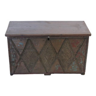 Vintage Turkish Dowry Trunk For Sale