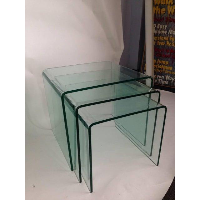 Fine bent glass nesting tables set of 3 decaso bent glass nesting tables set of 3 image 4 of 5 watchthetrailerfo