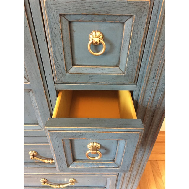 Drexel Heritage Blue Armoire - Image 8 of 11