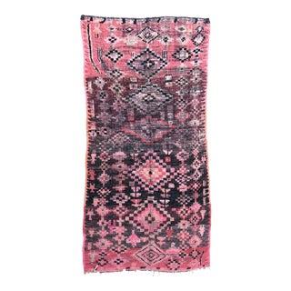 Vintage Moroccan Boujad Rug - 5′5″ × 10′4″ For Sale