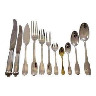 Louvois by Puiforcat Sterling Silver Flatware Set Service France 248 Pieces For Sale