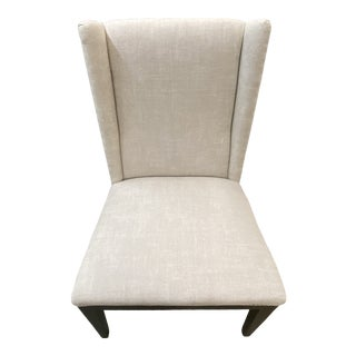 Century Linen Dining Chair For Sale