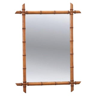 French Late 19th Century Faux Bamboo Mirror For Sale
