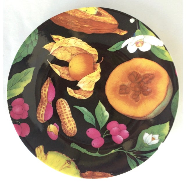 French Limoges Tropical Fruits Canape Plates - Set of 10 For Sale - Image 3 of 8
