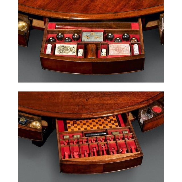 Traditional Irish Mahogany Dining and Games Table For Sale - Image 3 of 6