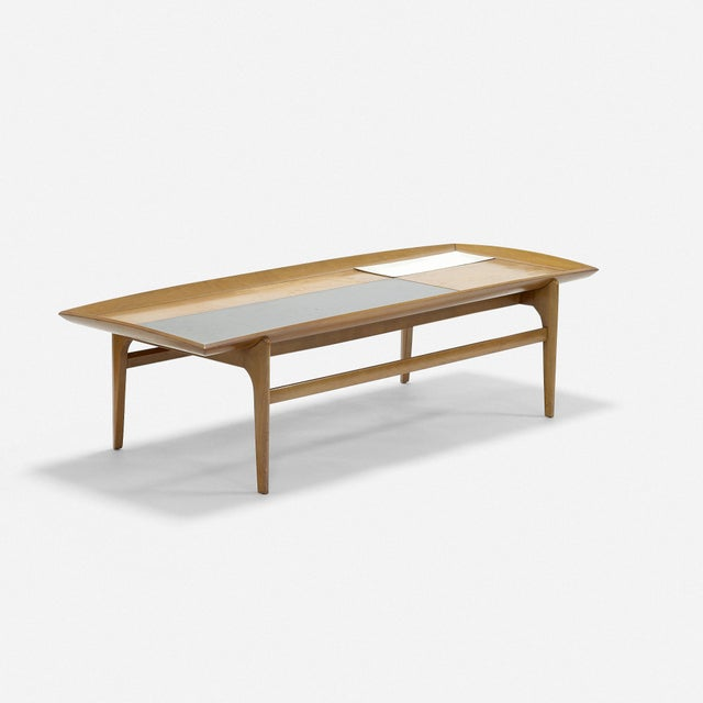 Modern Set of Three Vintage Midcentury Modern Tables Designed by John Keal for Brown Saltman For Sale - Image 3 of 7