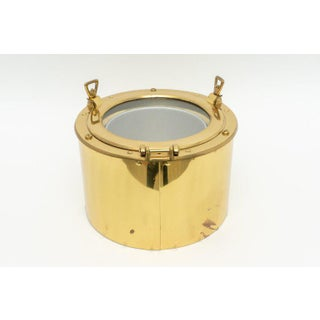 1970s Nautical Ship Port-Hole Brass Ice Bucket Preview
