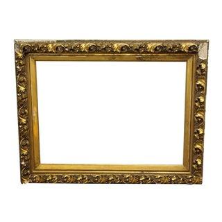 Ornate Gold Plaster Picture Frame For Sale