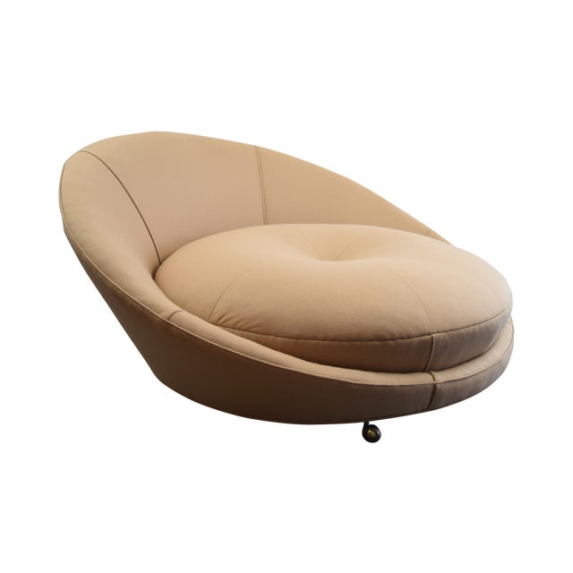 Milo Baughman Round Lounger Settee For Sale