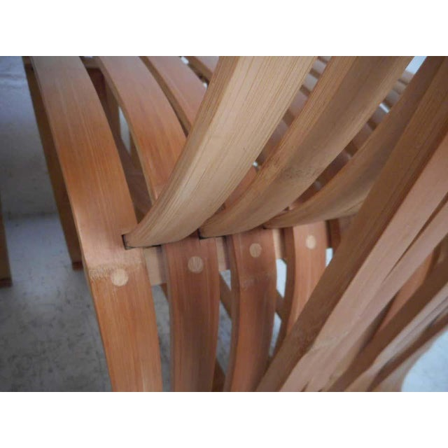 Wood Pair of Vintage Wood-Slat Chairs For Sale - Image 7 of 11