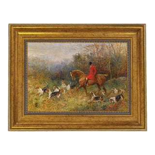 The Draw by Heywood Hardy Framed Oil Painting Print on Canvas, Antiqued Gold Frame For Sale