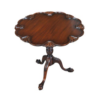 Kittinger Mahogany Tilt Top Table For Sale