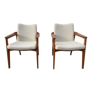 1950s Vintage France and Son Denmark Sigvard Bernadotte Arm Chair- A Pair For Sale