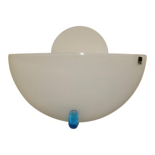 1980s Vintage Mid-Century Modern Murano Glass Wall Lamp For Sale