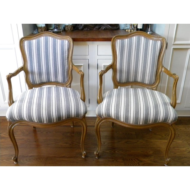 Vintage French Style Fauteuils - A Pair - Image 3 of 6