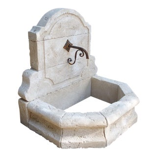 Small Hand Carved Wall Fountain From the South of France For Sale