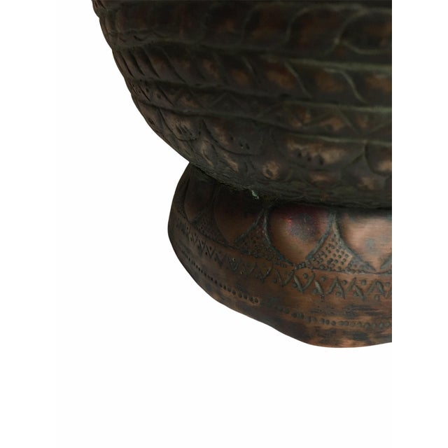 19th Century Persian Qajar Dynasty Copper Pitcher/Jug For Sale - Image 9 of 13