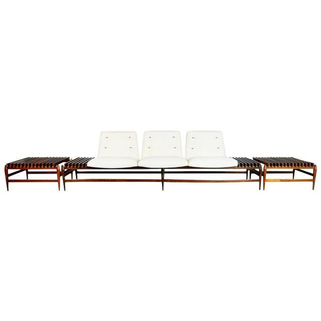 1950s Liceu De Artes E Oficios Jacaranda Sofa & Side Tables, Brazil - 3 Pc. Set For Sale - Image 11 of 11