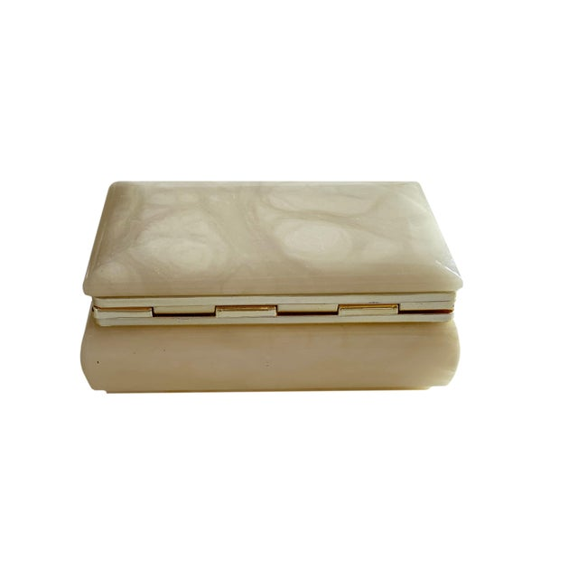 Hand Carved Italian Alabaster Box For Sale In Dallas - Image 6 of 10