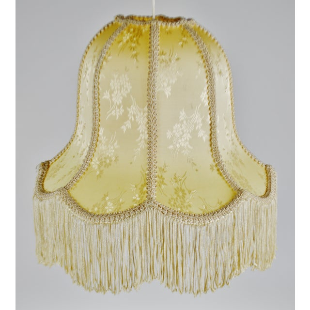 Vintage Victorian Style Bell Shaped Fringe Lamp Shade For Sale - Image 10 of 13