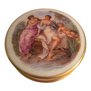 1980s Limoges Bathing Maidens Box For Sale