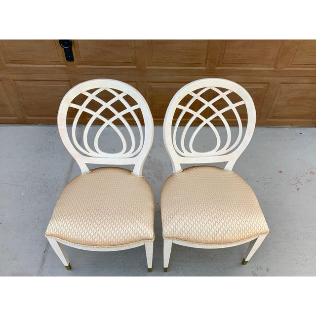 White 1990's Henredon Side Chairs - Set of 2 For Sale - Image 8 of 13