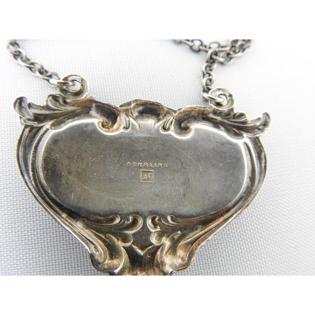 Traditional Sterling Silver Martini Hanging Label For Sale - Image 3 of 3