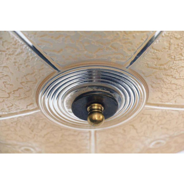 Peach Embossed Domed Glass Shade Fixture For Sale - Image 11 of 12