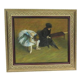"Degas Style ""Ballet Student and Mistress"" Painting For Sale"