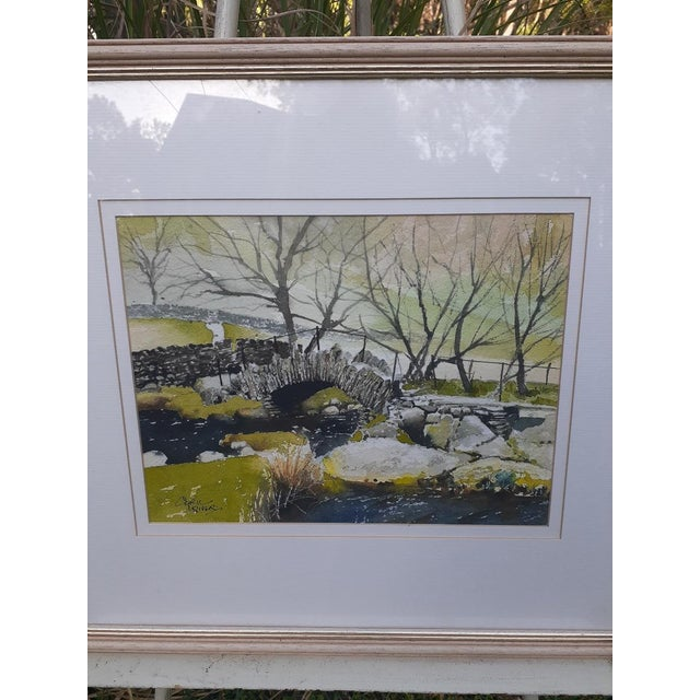 ON SALE! $225! Fabulous original watercolor painting by British artist, Cyril Driver. This landscape scene depicts the...