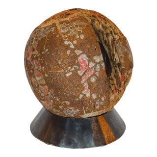 European Game Ball on Custom Pedestal For Sale