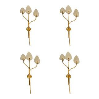 1950s Italian Mid-Century Modern Pietro Chiesa Attributed Huge Wall Sconces For Sale