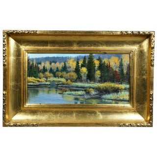 Oil on Panel Landscape by Jerry Antolik For Sale