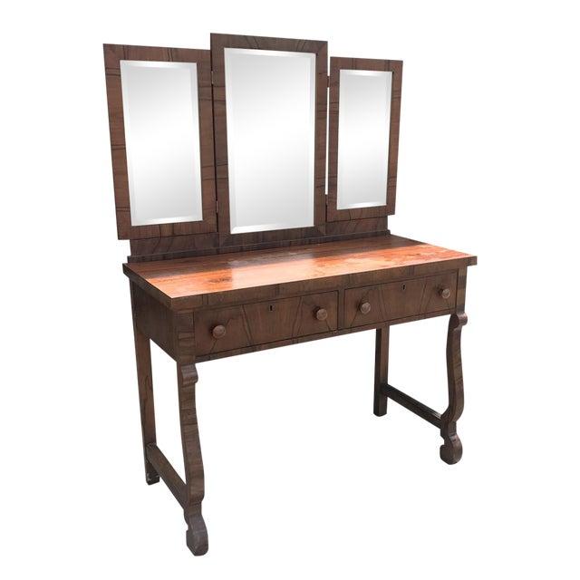 Antique American Empire Mahogany Ladies Vanity Desk - Image 1 of 5