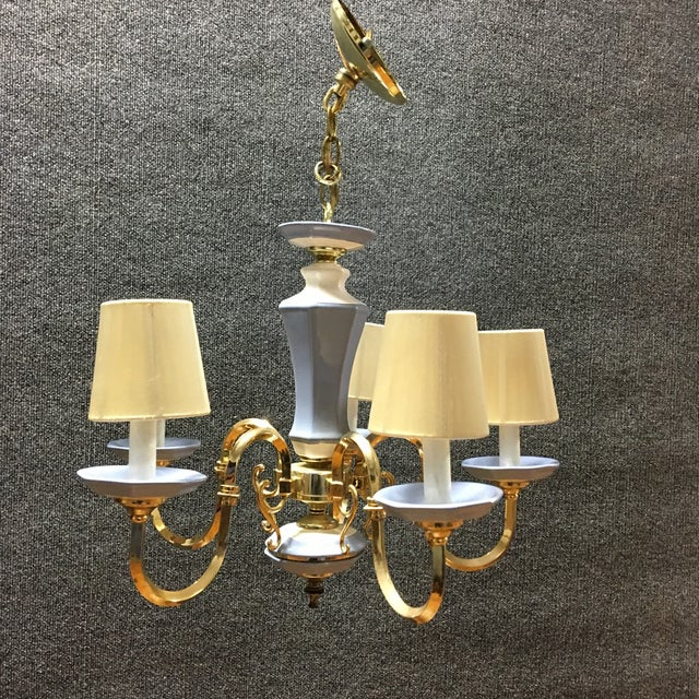 5-Lights With Shades Chandelier - Image 2 of 4