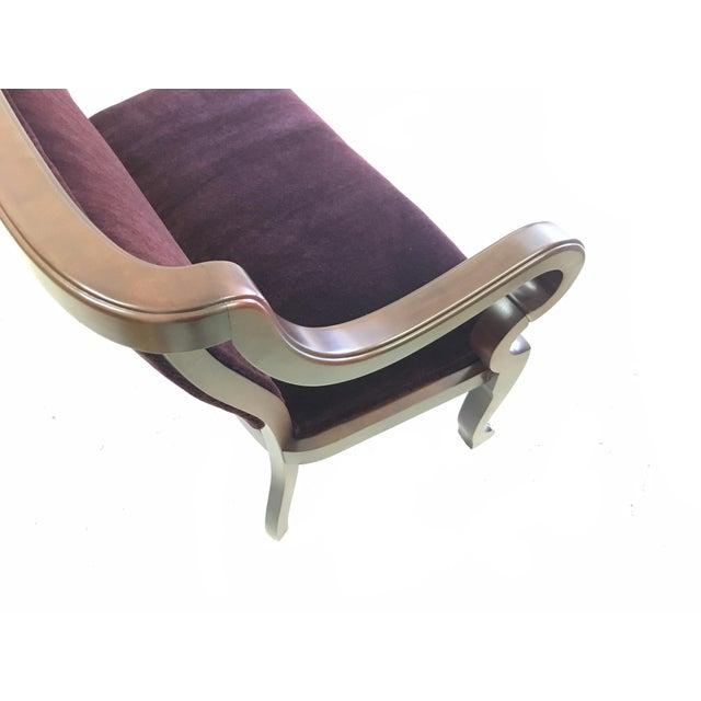 Victorian Schumacher Mohair Velvet Empire Bench Settee For Sale - Image 3 of 10