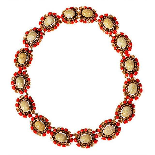 1960s 1964 Vintage Christian Dior Jeweled Necklace For Sale - Image 5 of 5