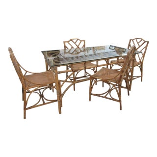 Italian Deutch Chippendale Dining Set - 5 Pieces For Sale