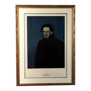 1980 Authorized Print featuring Portrait of Pablo Picasso, Framed For Sale