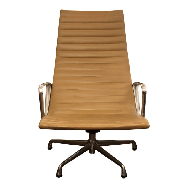 Mid-20th Century Eames Aluminum Group Lounge Chair For Sale